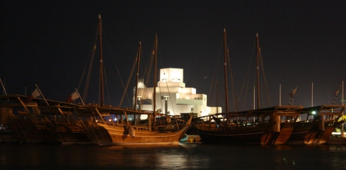 Dhow Harbour at night, Doha