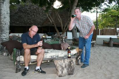 At the Karibu Sands Bar - for just the one!