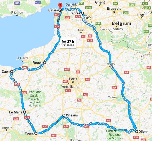 France & Belgium Whole trip