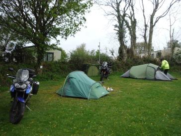 Campsite, Shaldon and Verity
